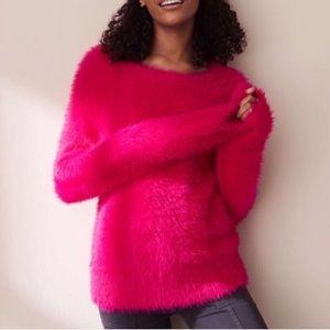 Lou & Grey Pink Eyelash Sweater Sz M